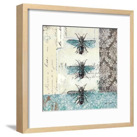 Bees n Butterflies No. I-Katie Pertiet-Framed Art Print
