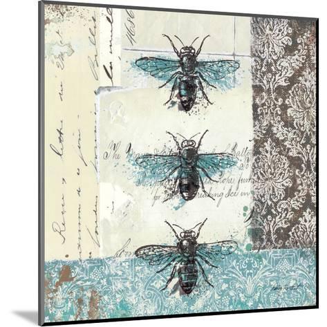 Bees n Butterflies No. I-Katie Pertiet-Mounted Art Print