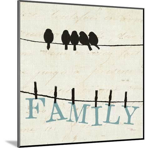 Bird Talk III-Pela Design-Mounted Art Print