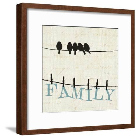 Bird Talk III-Pela Design-Framed Art Print