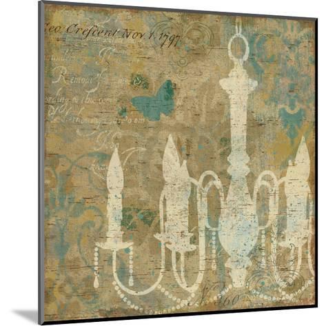 Faded Ornate II Aqua-Pela Design-Mounted Art Print