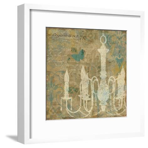 Faded Ornate II Aqua-Pela Design-Framed Art Print