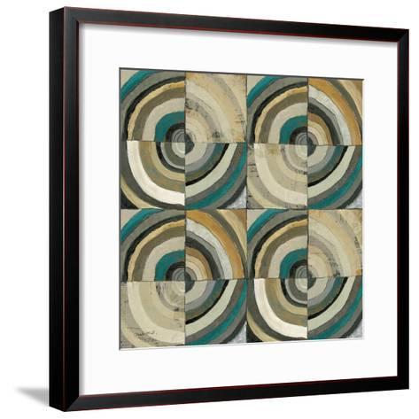 The Center II Abstract Turquoise-Cheryl Warrick-Framed Art Print