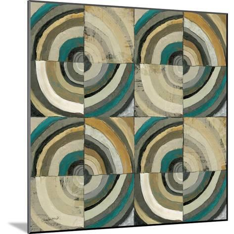 The Center II Abstract Turquoise-Cheryl Warrick-Mounted Premium Giclee Print