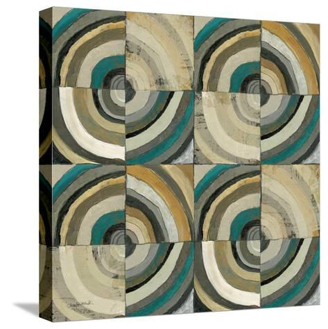 The Center II Abstract Turquoise-Cheryl Warrick-Stretched Canvas Print