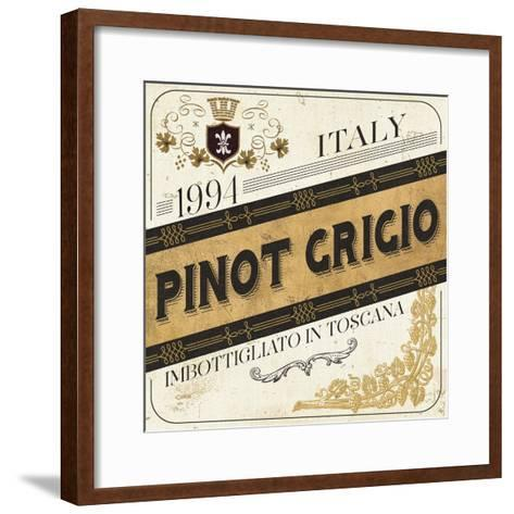 Wine Labels IV-Pela Design-Framed Art Print