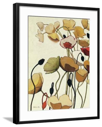 Pavots Ondule I-Shirley Novak-Framed Art Print