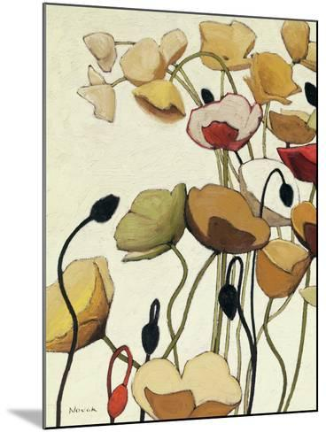 Pavots Ondule I-Shirley Novak-Mounted Art Print