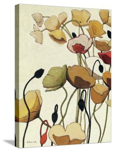 Pavots Ondule I-Shirley Novak-Stretched Canvas Print