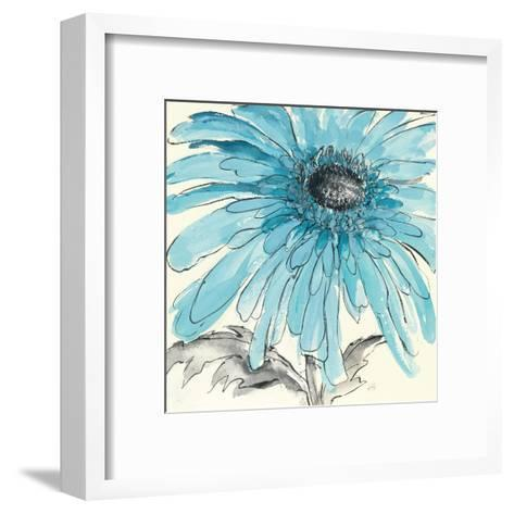 Gerbera Blue III-Chris Paschke-Framed Art Print