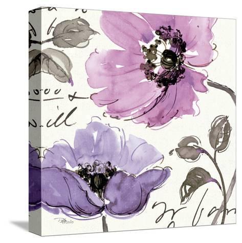 Floral Waltz Plum I-Jess Aiken-Stretched Canvas Print