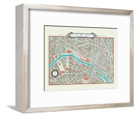Plan de Paris Map--Framed Art Print