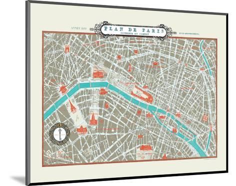 Plan de Paris Map--Mounted Art Print