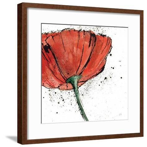 Not a California Poppy on White I-Chris Paschke-Framed Art Print