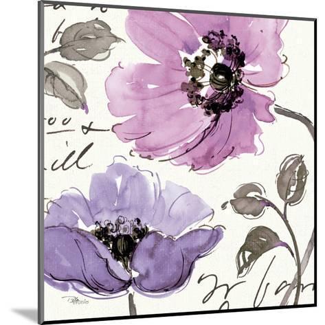Floral Waltz Plum I-Jess Aiken-Mounted Art Print
