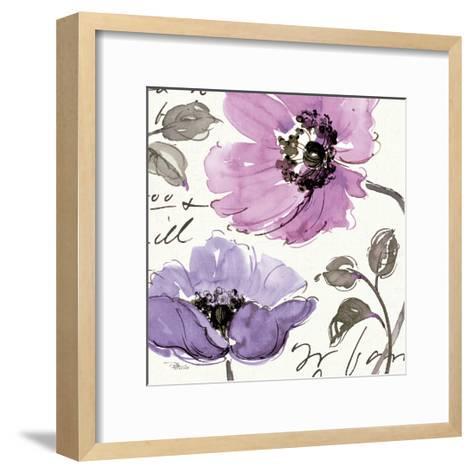 Floral Waltz Plum I-Jess Aiken-Framed Art Print