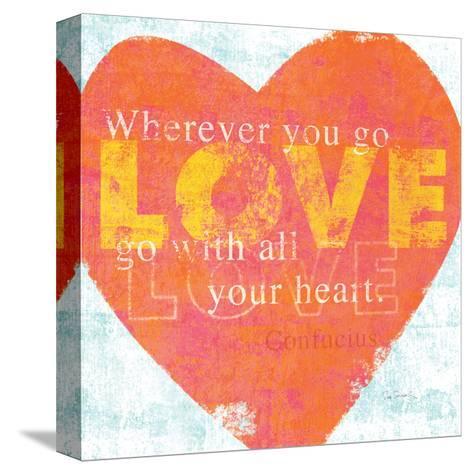 Letterpress Love-Sue Schlabach-Stretched Canvas Print
