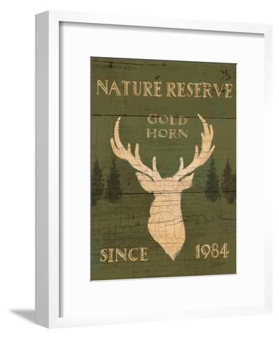 Lodge Signs IX Green-James Wiens-Framed Art Print