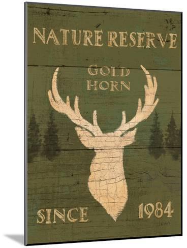 Lodge Signs IX Green-James Wiens-Mounted Art Print