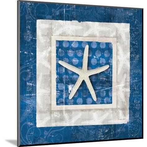 Sea Shell IV on Blue-Belinda Aldrich-Mounted Art Print