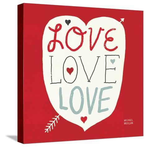 Love Love Love Square--Stretched Canvas Print