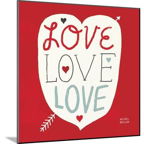 Love Love Love Square--Mounted Art Print