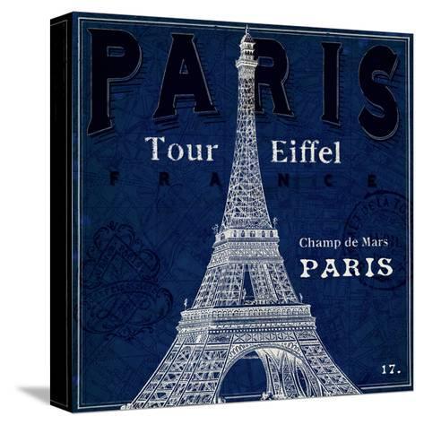 Blueprint Tour Eiffel-Sue Schlabach-Stretched Canvas Print