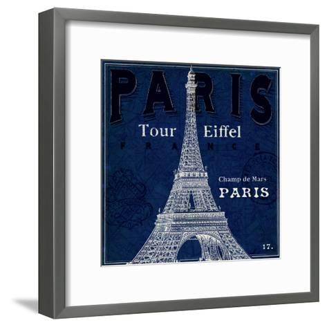 Blueprint Tour Eiffel-Sue Schlabach-Framed Art Print