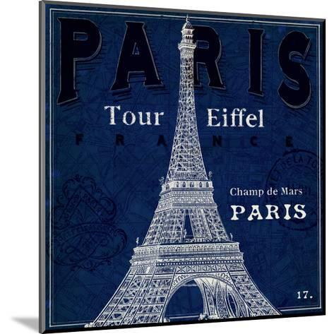 Blueprint Tour Eiffel-Sue Schlabach-Mounted Art Print
