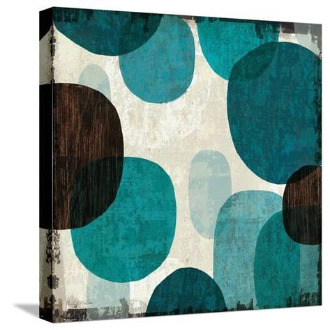 Blue Drips I-Michael Mullan-Stretched Canvas Print