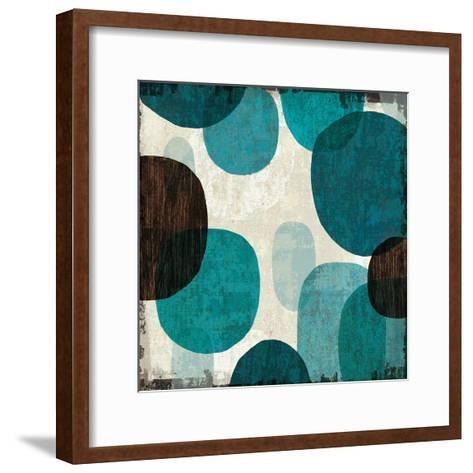 Blue Drips I-Michael Mullan-Framed Art Print