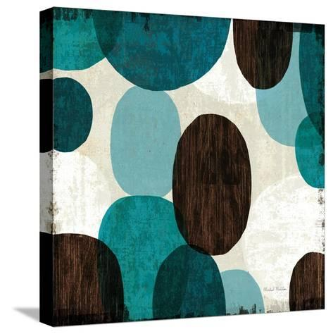 Blue Drips II--Stretched Canvas Print
