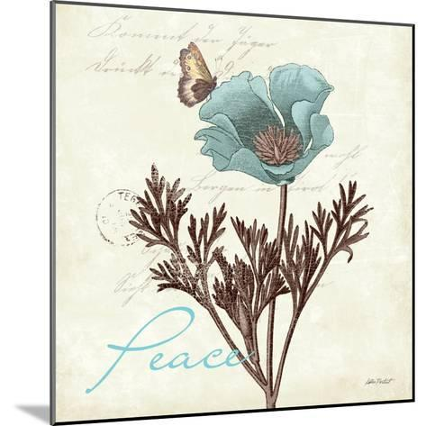 Touch of Blue I-Katie Pertiet-Mounted Art Print