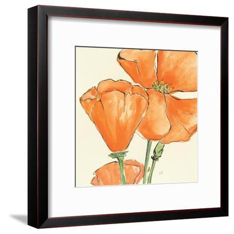 Sunshine Poppy III-Chris Paschke-Framed Art Print