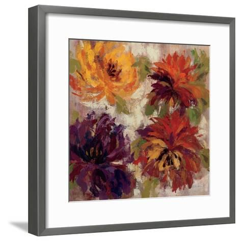 Fiery Dahlias I--Framed Art Print