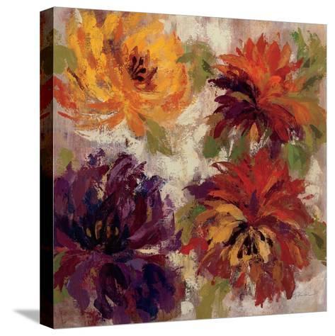 Fiery Dahlias I--Stretched Canvas Print