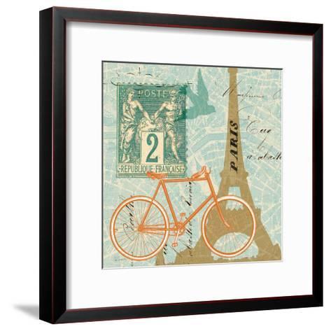 Postcard from Paris Collage--Framed Art Print