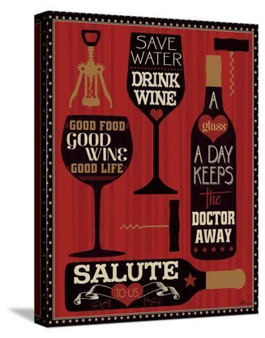 Wine Words II-Pela Design-Stretched Canvas Print