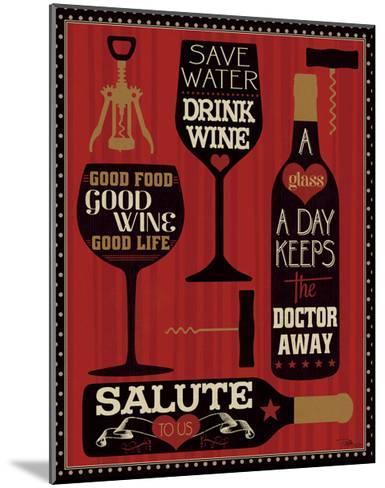 Wine Words II-Pela Design-Mounted Art Print