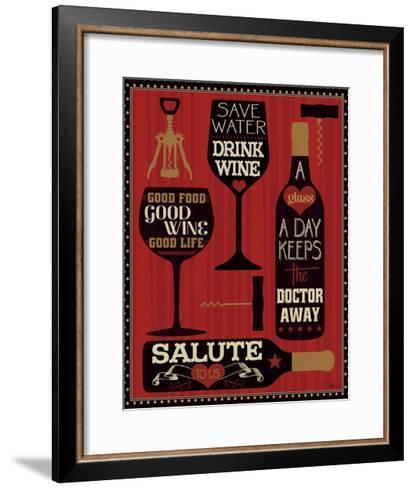 Wine Words II-Pela Design-Framed Art Print