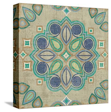 Santorini Tile III-Pela Design-Stretched Canvas Print