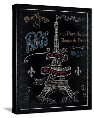 Travel to Paris I-Daphne Brissonnet-Stretched Canvas Print
