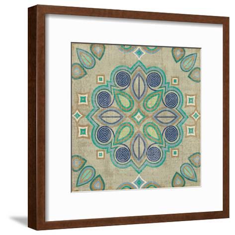 Santorini Tile III-Pela Design-Framed Art Print