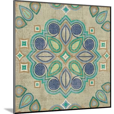 Santorini Tile III-Pela Design-Mounted Art Print