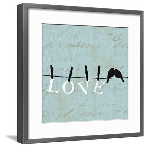 Birds on a Wire Square-Pela Design-Framed Art Print