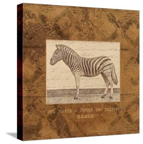Zebra-Hugo Wild-Stretched Canvas Print