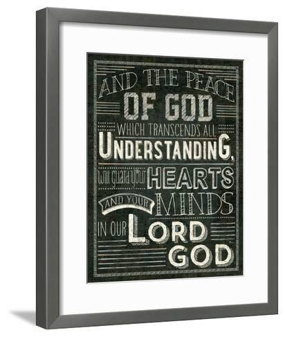 Holy Words II-Pela Design-Framed Art Print