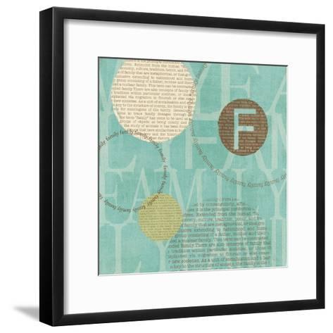 Circle of Words-Veronique Charron-Framed Art Print