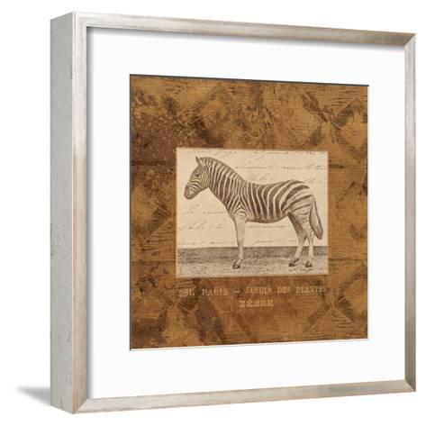 Zebra-Hugo Wild-Framed Art Print