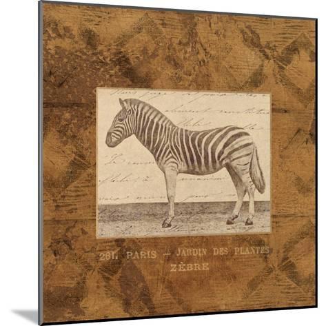 Zebra-Hugo Wild-Mounted Art Print